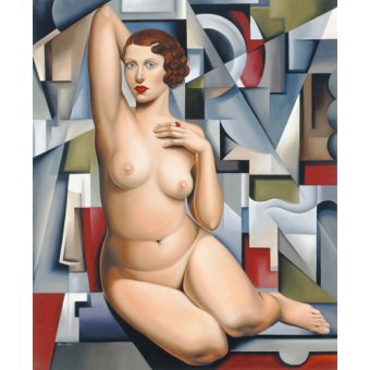 quadros nu artistico - Quadro -Seated Cubist Nude (oil on canvas)- - Abel, Catherine