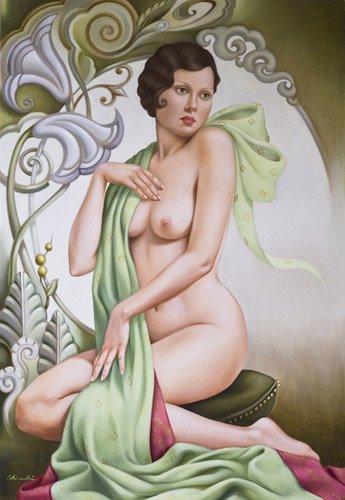 pinturas-de-retratos - Quadro -Petite Libellule (oil on linen)- - Abel, Catherine