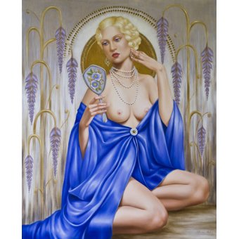 - Quadro -Rhapsody in Blue (oil on canvas)- - Abel, Catherine