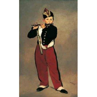 pinturas de retratos - Quadro -El pífano, 1866- - Manet, Eduard