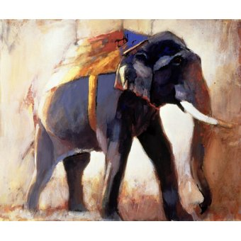 quadros de animais - Quadro -Shivaji, Khana, 1996 (mixed media on paper)- - Adlington, Mark