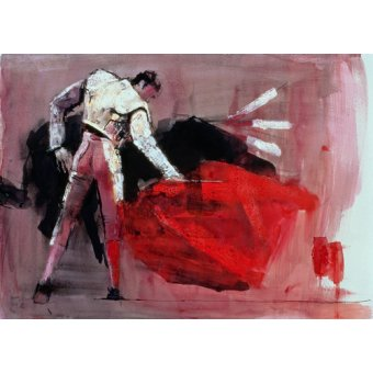 quadros de animais - Quadro -Matador, 1998 (mixed media on paper)- - Adlington, Mark