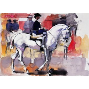 - Quadro -Side-saddle at the Feria de Sevilla, 1998 (mixed media on paper)- - Adlington, Mark
