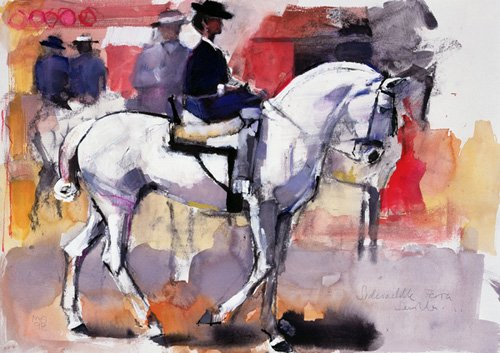 quadros-para-sala - Quadro -Side-saddle at the Feria de Sevilla, 1998 (mixed media on paper)- - Adlington, Mark