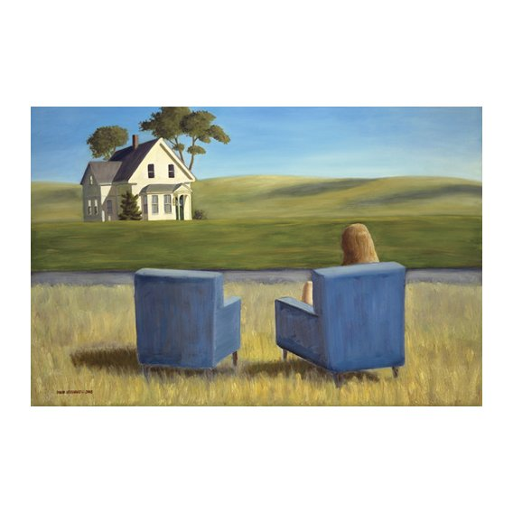 Quadro - Housesitting (oil on canvas) -