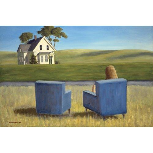 Quadro - Housesitting (oil on canvas) -