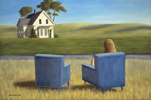 quadros-de-paisagens - Quadro - Housesitting (oil on canvas) - - Arsenault, David