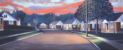 quadros-de-paisagens - Quadro -Twilight Glow, 1997 (oil on canvas)- - Arsenault, David