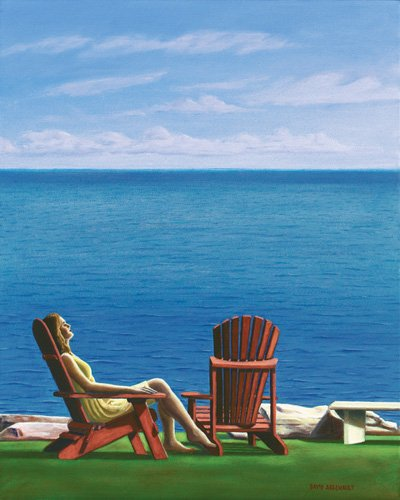 quadros-de-paisagens-marinhas - Quadro -Solitary Refinement, 2014, oil on canvas- - Arsenault, David