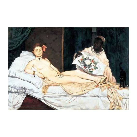 pinturas do retrato - Quadro -Olympia, 1863-