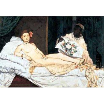 quadros nu artistico - Quadro -Olympia, 1863- - Manet, Eduard