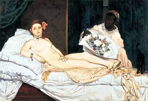 cuadros de retrato - Cuadro -Olympia, 1863- - Manet, Eduard