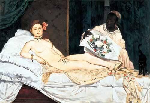 pinturas-de-retratos - Quadro -Olympia, 1863- - Manet, Eduard