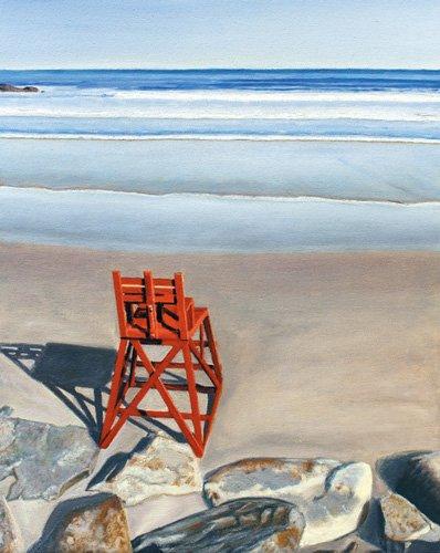 quadros-de-paisagens-marinhas - Quadro - Rock Star, 2014, oil on canvas - - Arsenault, David