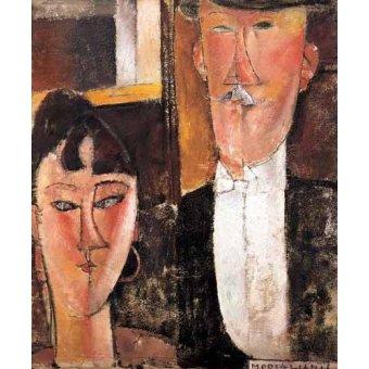 - Quadro -Pareja de novios- - Modigliani, Amedeo