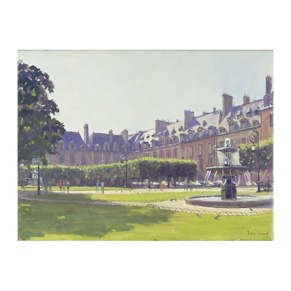 Quadro -Place des Vosges, Paris (oil on canvas) -