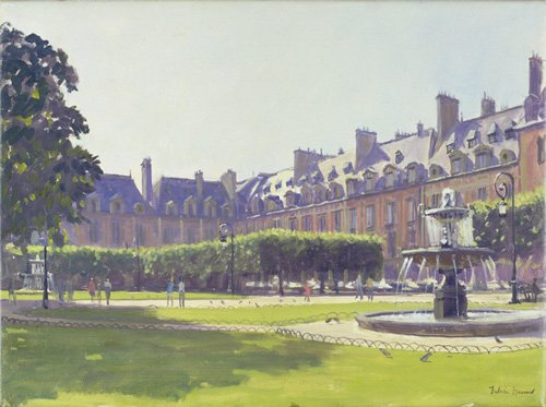quadros-modernos - Quadro -Place des Vosges, Paris (oil on canvas) - - Barrow, Julian