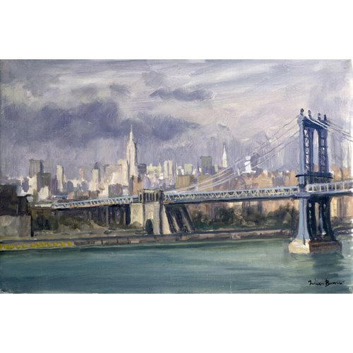 Quadro -Manhattan Bridge, New York, 1996 (oil on canvas)-