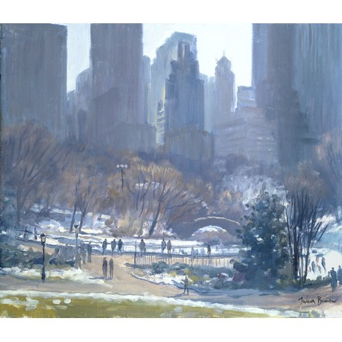 Quadro -Winter in Central Park, New York, 1997 (oil on canvas)-