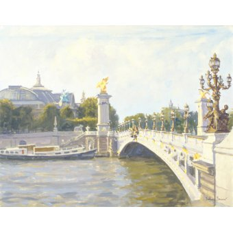 quadros de paisagens - Quadro -Pont Alexandre III, Paris (oil on canvas)- - Barrow, Julian