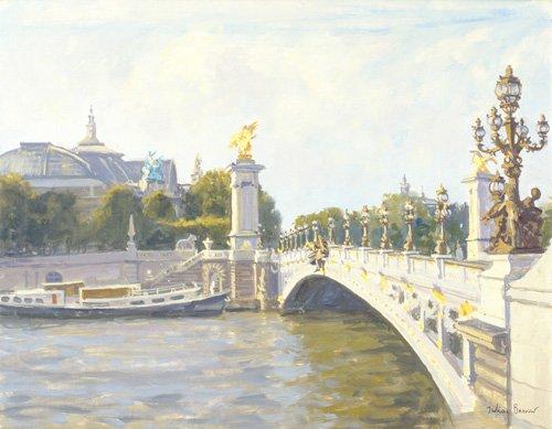 quadros-modernos - Quadro -Pont Alexandre III, Paris (oil on canvas)- - Barrow, Julian