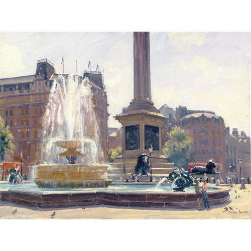 Quadro -Trafalgar Square, London (oil on canvas)-