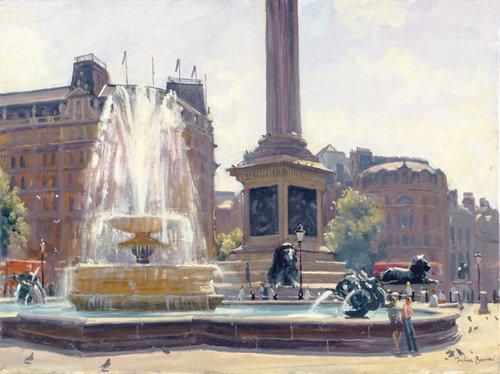 quadros-modernos - Quadro -Trafalgar Square, London (oil on canvas)- - Barrow, Julian