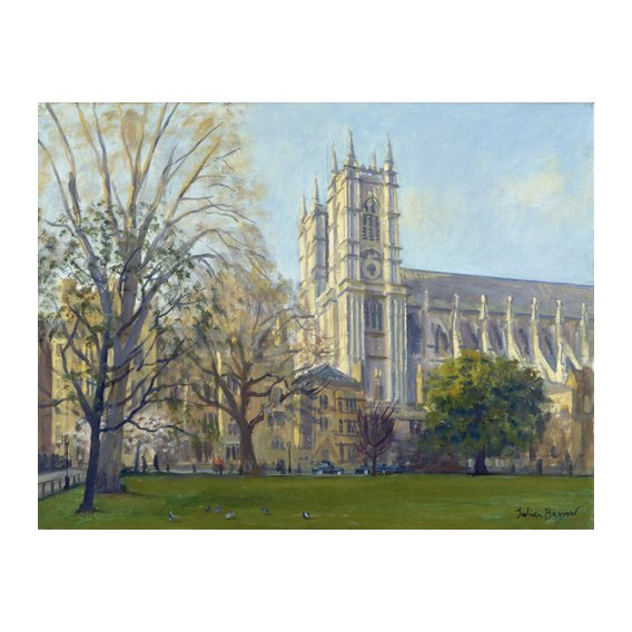 Quadro -Westminster Abbey from Dean's Yard (oil on canvas)-