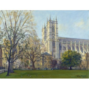 quadros de paisagens - Quadro -Westminster Abbey from Dean's Yard (oil on canvas)- - Barrow, Julian