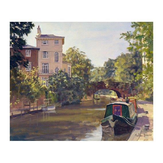 Quadro -Regent's Park Canal (oil on canvas)-