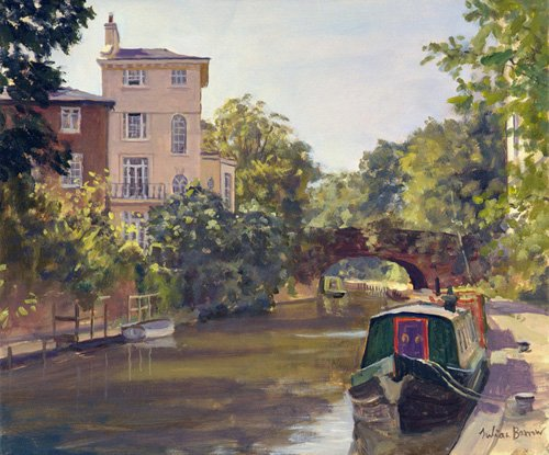 quadros-modernos - Quadro -Regent's Park Canal (oil on canvas)- - Barrow, Julian