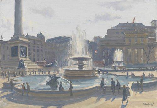 quadros-modernos - Quadro -Trafalgar Square, 2010 (oil on canvas)- - Barrow, Julian