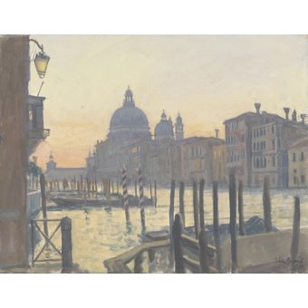 quadros de paisagens - Quadro -Sunrise Grand Canal, 2009 (oil on canvas)- - Barrow, Julian