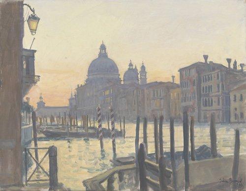 quadros-modernos - Quadro -Sunrise Grand Canal, 2009 (oil on canvas)- - Barrow, Julian