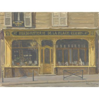 quadros de paisagens - Quadro -Herboristerie de la Place Clichy, 2010 (oil on canvas)- - Barrow, Julian