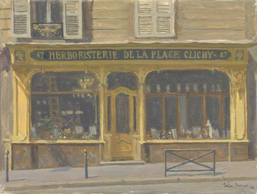 quadros-modernos - Quadro -Herboristerie de la Place Clichy, 2010 (oil on canvas)- - Barrow, Julian