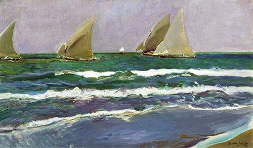 quadros-de-paisagens-marinhas - Quadro -Valência praia, de manhã- - Sorolla, Joaquin