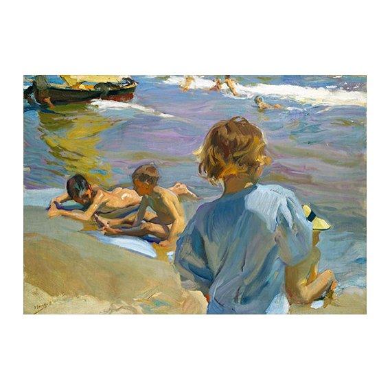 Quadro -Crianças na praia, 1916 -