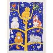 Quadro -Five Christmas Cats-