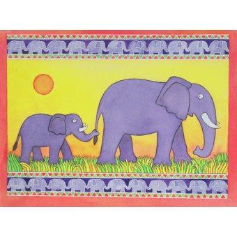 quadros infantis - Quadro -Elephants- - Baxter, Cathy