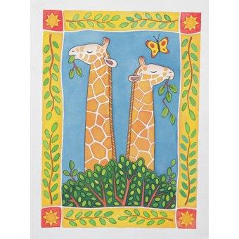 quadros infantis - Quadro --Giraffes- - Baxter, Cathy