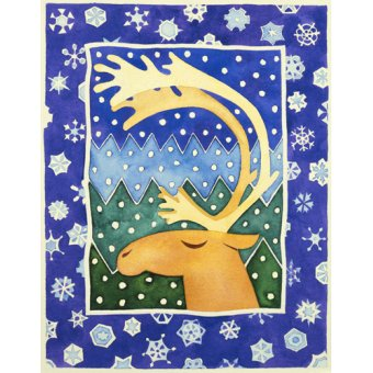 quadros infantis - Quadro -Reindeer and Snowflakes- - Baxter, Cathy