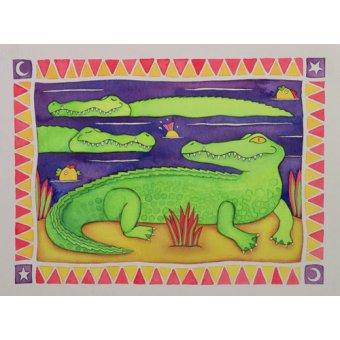 quadros infantis - Quadro -Crocodiles- - Baxter, Cathy