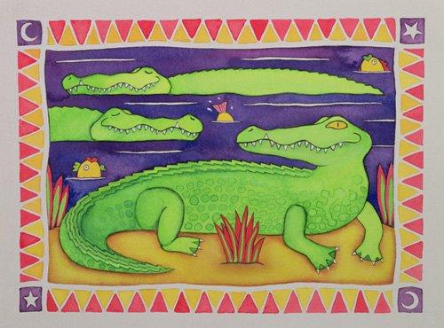 quadros-infantis - Quadro -Crocodiles- - Baxter, Cathy