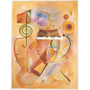 Quadros abstratos - Quadro -Musical Mix- - Beckford, Ikahl