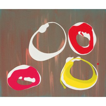 Quadros abstratos - Quadro -Young Flying Fish III, 1997 (acrylic on canvas)- - Booth, Colin