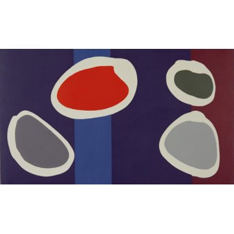 Quadros abstratos - Quadro -Go Discs, 1999 (acrylic on canvas) (pair with 146091)- - Booth, Colin