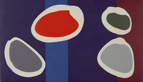 quadros-modernos - Quadro -Go Discs, 1999 (acrylic on canvas) (pair with 146091)- - Booth, Colin
