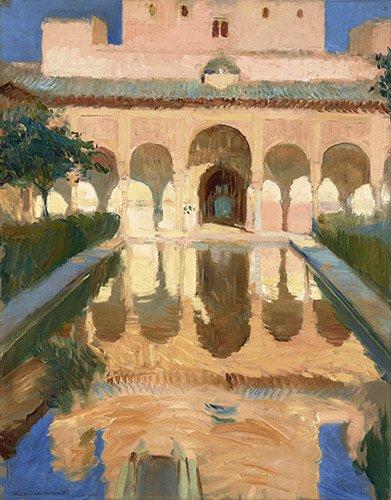 quadros-de-paisagens - Quadro -Alhambra, Salon de Embajadores, Granada - - Sorolla, Joaquin