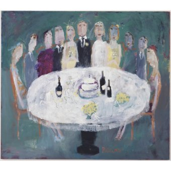 - Quadro -Wedding Breakfast, 2007 (oil on board)- - Bower, Susan